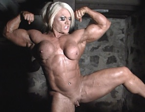 British muscle porn star Lisa Cross is in our dungeon and has only one mission - to make you worship her muscle. Not that you'll mind worshiping at this rock-hard temple of bulging biceps, vascular legs, and throbbing huge clit! Lisa can't help but give her wet pussy a nice rub - just for you, her loyal followers.