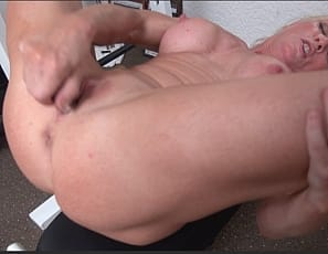 Now that mature Mandy is free from her restraints, she set out to satisfy her need to cum. Thankfully she has her handy dandy vibrator near by and proceeds to fuck herself until she's good and tired. She even sucks her pussy juice from the vibrator. Lovely!