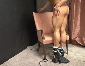 Pro female bodybuilder Jill Jaxen wakes up bound and restrained. You might think that Jill would feel powerless, however she uses her powerful biceps, muscular pecs, and strong legs to break free from her restraints and turn the power tables in her favor!