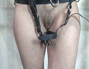Charlotte has just had her clit vibrated with a strap on wand and now she is bound with a dripping wet pussy. What's a girl to do? Well, Charlotte's POV admirer helps her out by fucking her fast and hard with a big black dildo.