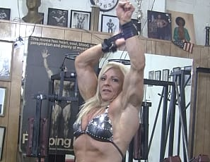 I was trying to give this video a clever title, when it donned on me, Why? Lacey loves to masturbate in the gym, and she loves to be watched doing it. I think when you watch her rub her big clit you'll agree. Sure, she loves showing of her ripped biceps and vasucalr quads - but its her pussy she REALLY loves to show!