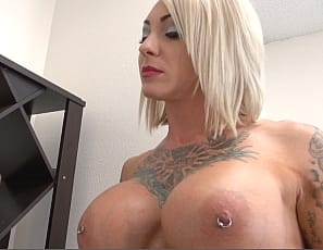 Female bodybuilder BrandiMae's naked and has been all bound up by tattooed Mistress Dani, who enjoys worshiping BrandiMae's ripped abs, sexy pecs, vascular biceps and muscular legs and glutes and tickling her wet pussy, clit and ass even when she begs her to stop. See the girl/girl action yourself.
